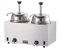 Twin Hot Topping Warmer-Two Pumps