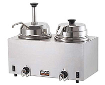 Twin Hot Topping Warmer-Pump & Ladle