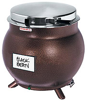 Kettle shaped soup warmer Copper- 7 or 11 Quart