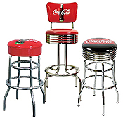 Coca Cola Barstools-Booths, stools, chairs and other classic Coca Cola seating.