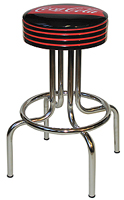 Coca Cola Fishtail Blackless Barstools