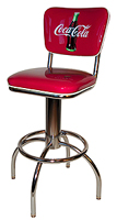 Coke Diner Stool W/Back