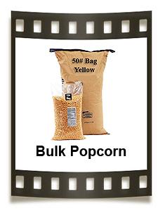 Bulk popcorn kernels, coconut oil, popcorn toppings & popcorn boxes.