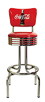 Coca Cola bar stools with backs