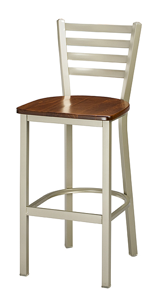 Regal Barstool 1516 Wood Seat Ladder Back Style