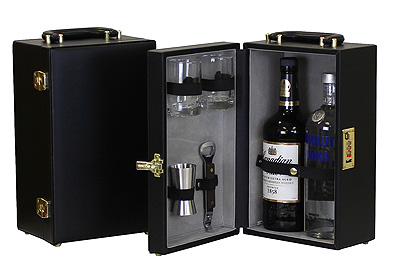 Travel Bar Case With Tools Portable Liquor Traveling Set