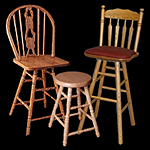 "Holland Hardwoods bar stools. Sizes up to 36"" All Wood Stools"