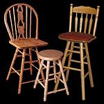 """Holland Hardwoods bar stools. Sizes up to 36"""" All Wood Stools"""