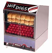 Hot Dog Equipment-Hot dog steamers, roller grills, & broilers.