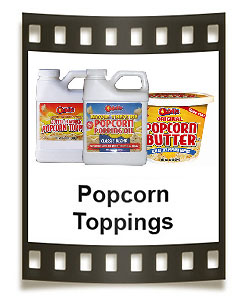 Odell's popcorn popping oils, popcorn salt, popcorn butter, and many flavors of popcorn seasonings.