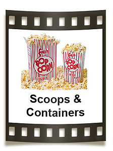 Striped popcorn boxes, printed popcorn bags and so much more.