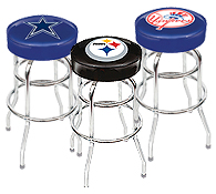NFL, MLB, NCAA Merchandise-Bar stools, tables, and dartboards.