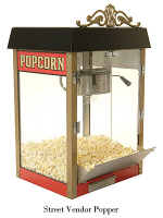 From the boardwalks of Coney Island and Palisades Park this four ounce antique styled popcorn machine will remind you of an era when vendors sold popcorn on street corners all across America.